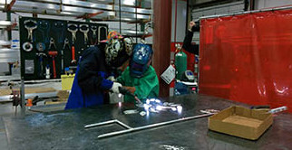 Girl Scout Welding at STEM & Manufacturing Workshop