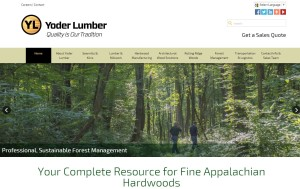 Yoder Lumber website home page