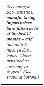 import prices falling callout